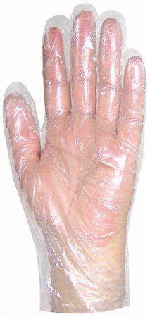 Fóliové rukavice, jednorazové, L