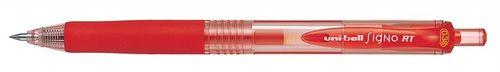 """Gélové pero, 0,2 mm, tlačidlový systém ovládania, UNI """"UMN-138"""", červené"""