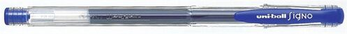 "Gélové pero, 0,3 mm, s uzáverom, UNI ""UM-100 Signo Micro"", tmavomodré"