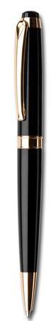 """Guľôčkové pero, Crystals from SWAROVSKI®, čierne, ART CRYSTELLA, """"Royal"""", biele krištále"""