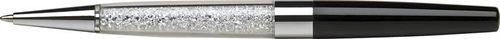 Guľôčkové pero, Crystals from SWAROVSKI® ,čierne, s bielymi krištáľmi v dolnej časti, 13,5