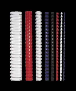 Hrebeň, plastový, 14 mm, 81-100 listový, FELLOWES, 25 ks, biely