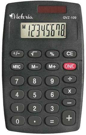 """Kalkulačka, vrecková, 8 miestny displej, VICTORIA """"GVZ-109"""""""