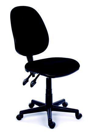 """Kancelárska stolička, čierne čalúnenie, čierny podstavec, MaYAH """"Happy Plus"""""""