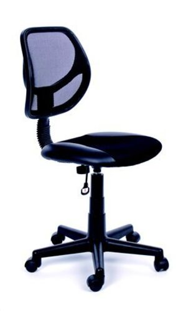 "Kancelárska stolička, čierne čalúnenie, sieťové opreadlo, čierny podstavec, MaYAH ""Fresh"""