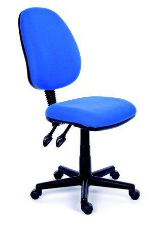 """Kancelárska stolička, modré čalúnenie, čierny podstavec, MaYAH """"Happy Plus"""""""