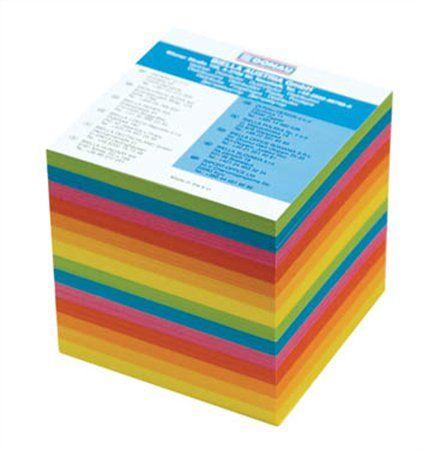 Kancelársky blok, 90x90x90 mm, nelepený, DONAU, farebný