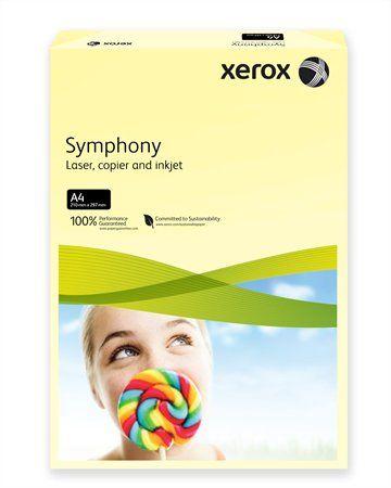 """Kancelársky papier, farebný, A4, 160 g, XEROX """"Symphony"""", svetložltý (pastelový)"""