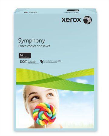 """Kancelársky papier, farebný, A4, 80 g, XEROX """"Symphony"""", modrý (stredný)"""