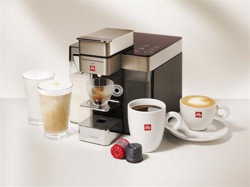 """Kávovar, kapsulový, s tryskou na penu, ILLY """"Francis Francis Y5"""", biela"""