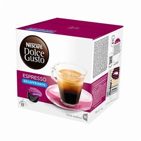 "Kávové kapsuly, 16 ks, NESCAFÉ ""Dolce Gusto Espresso"", bezkofeínové"