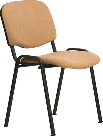 """Konferenčná stolička """"Felicia"""", béžové čalúnenie, čierna kovová konštrukcia"""