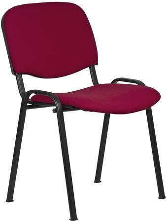 """Konferenčná stolička """"Felicia"""", bordový poťah, čierna kovová konštrukcia"""
