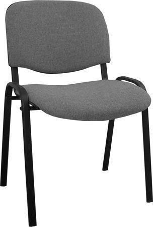 """Konferenčná stolička """"Felicia"""", sivo-čierne čalúnenie, oceľová konštrukcia"""