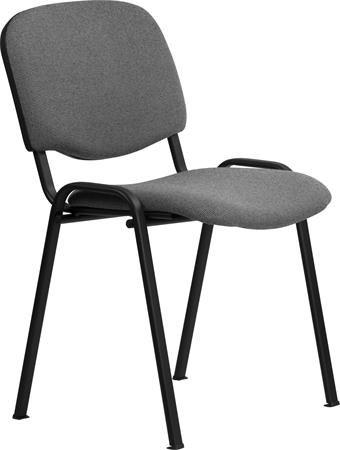 """Konferenčná stolička """"Felicia"""", sivý poťah, čierna kovová konštrukcia"""