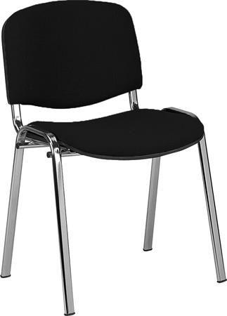 """Konferenčná stolička, textilové čalúnenie, chrómová konštrukcia, """"Taurus"""", čierna"""