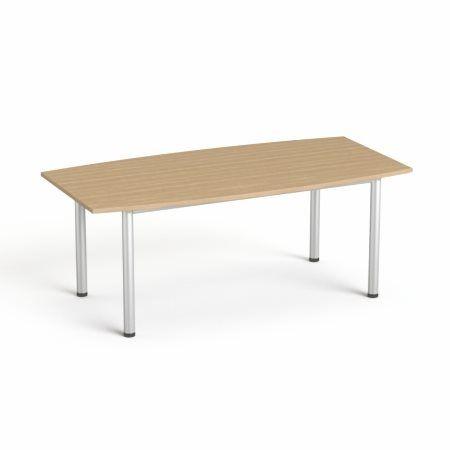 """Konferenčný stôl, s oblúkom, so sivou kovovou nohou, 80/95x190 cm, MAYAH """"Freedom SV-43"""","""