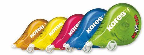 "Korekčný roller, 4,2 mm x 8 m, KORES ""Scooter"", mix farieb"