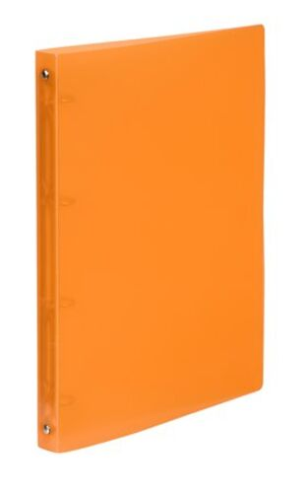 "Krúžkový šanón, 4 krúžky, 25 mm, A4, PP, VIQUEL ""Propyglass"", oranžový"