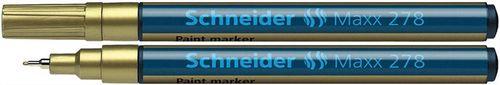 """Lakový popisovač, 0,8 mm, SCHNEIDER """"Maxx 278"""", zlatý"""