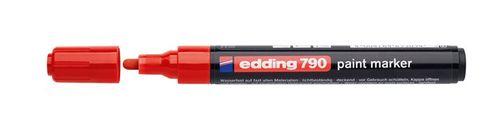 """Lakový popisovač, 2-3 mm, EDDING """"790"""", červený"""