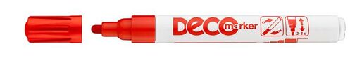 """Lakový popisovač, 2-4 mm, ICO """"Decomarker"""", červený"""