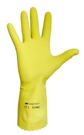 Latexové rukavice, žlté, veľkosť: 8