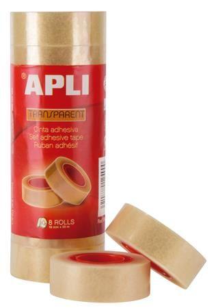 """Lepiaca páska, 19 mm 33 m, APLI """"Transparent"""", priehľadná"""
