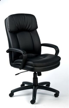 """Manažérska stolička, s hojdacou mechanikou, čierna bonded koža, čierny podstavec, MAYAH """"D"""