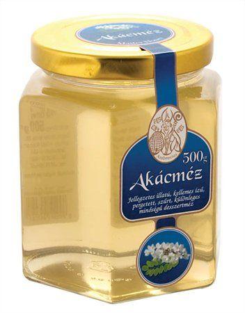 Med, agátový, 500g, sklenená dóza