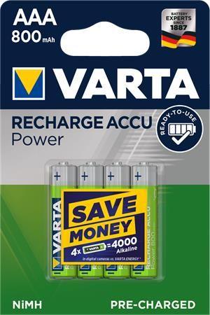 """Mikrotužkové batérie """"Ready2Use"""", 4x, AAA, 800 mAh"""