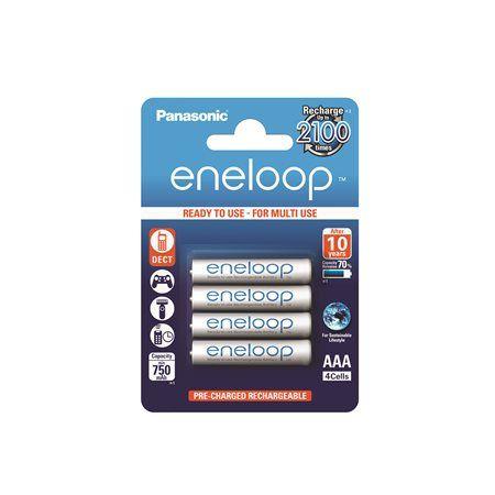 """Nabíjateľná batéria, AAA mikrotužková, 4x750 mAh, PANASONIC """"Eneloop"""""""