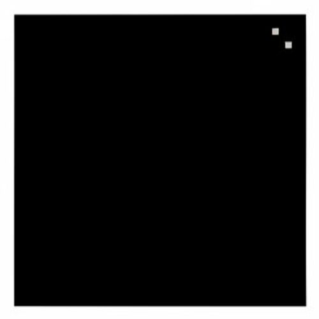 Naga Glassboard 45x45 cm, sklenená magnetická tabuľa, čierna