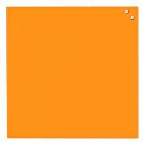 Naga Glassboard 45x45 cm, sklenená magnetická tabuľa, oranžová