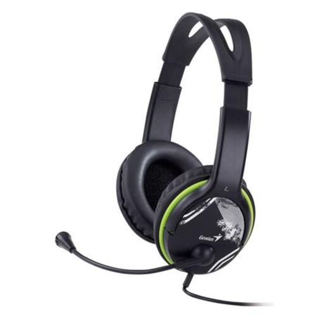 "Náhlavné slúchadlá, mikrofón, s ovládaním hlasitosti, GENIUS ""HS-400A"", zelené"
