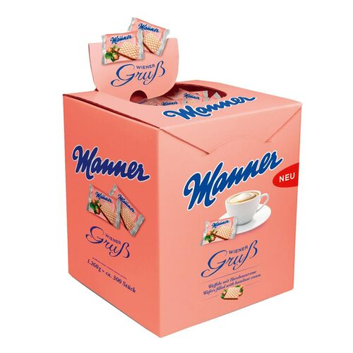 Napolitánky ku káve wafle Manner Original 1260 g