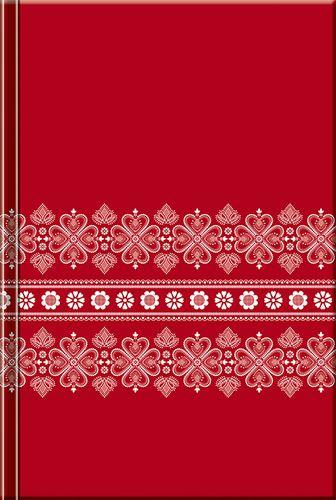 Notes Folk červený