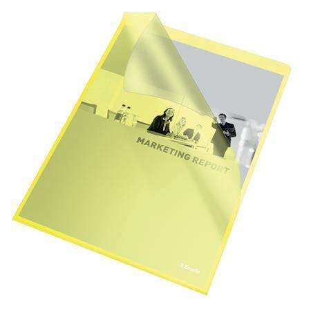 """Obal """"L"""", A4, 105 mikr., drsný povrch, ESSELTE """"Standard"""", žltý"""