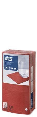 """Obrúsky, 1/4 ohyb, 2 vrstvové, 24x24 cm, TORK """"Advanced"""", červené"""