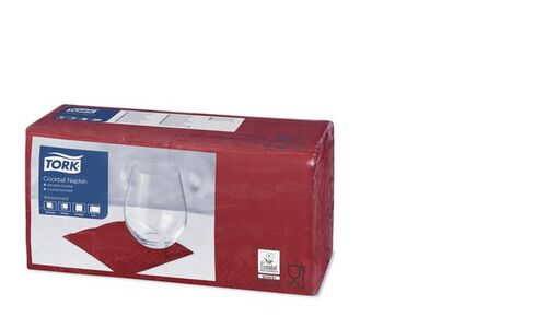 "Obrúsky ""Tissue"", 2 vrstvové, 24x24 cm, bordové"