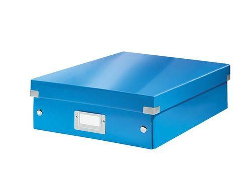 """Odkladací box, organizačný, laminovaný kartón, veľkosť M, LEITZ """"Click&Store"""", modrý"""