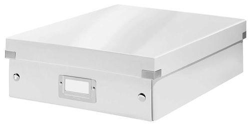 """Odkladací box, organizačný, laminovaný kartón, veľkosť M, LEITZ """"Click&Store"""", biely"""