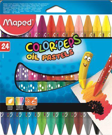"""Olejové kriedy, MAPED """"Color Peps"""", 24 rôznych farieb"""