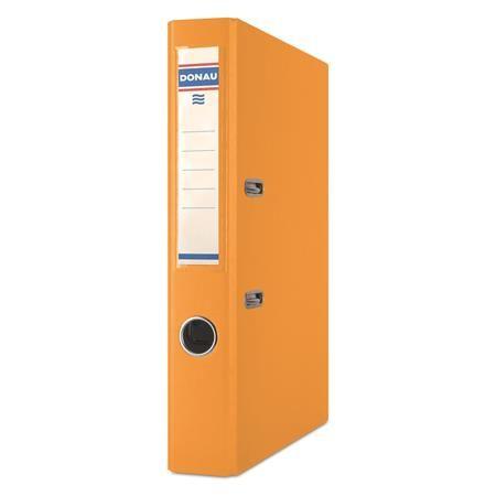 """Pákový šanón, 50 mm, A4, PP/kartón, DONAU """"Rainbow"""", oranžový"""