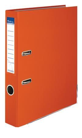 """Pákový šanón, 50 mm, A4, PP/kartón, s ochranným spodným kovaním, VICTORIA, """"Basic"""", oranžo"""