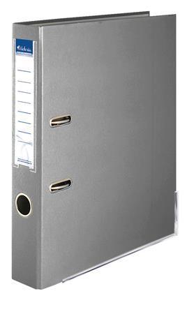"""Pákový šanón, 50 mm, A4, PP/kartón, s ochranným spodným kovaním, VICTORIA, """"Basic"""", sivý"""
