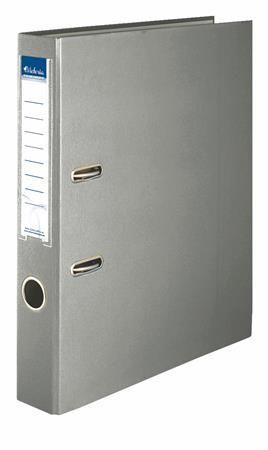 """Pákový šanón, 50 mm, A4, PP/kartón, VICTORIA, """"Basic"""", sivý"""