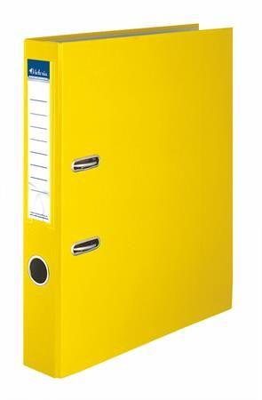 """Pákový šanón, 50 mm, A4, PP/kartón, VICTORIA """"Basic"""", žltý"""