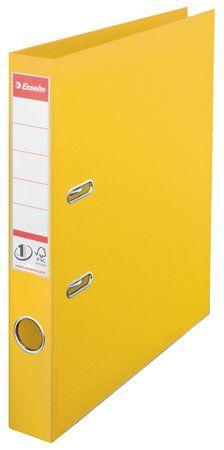 """Pákový šanón, 50 mm, A4, PP/PP, s ochranným spodným kovaním, ESSELTE """"Standard"""", žltý"""