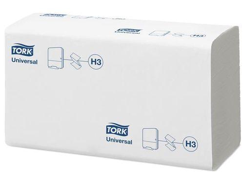 """Papierové utierky, skladané, H3 systém, TORK """"Universal Z"""", biele"""